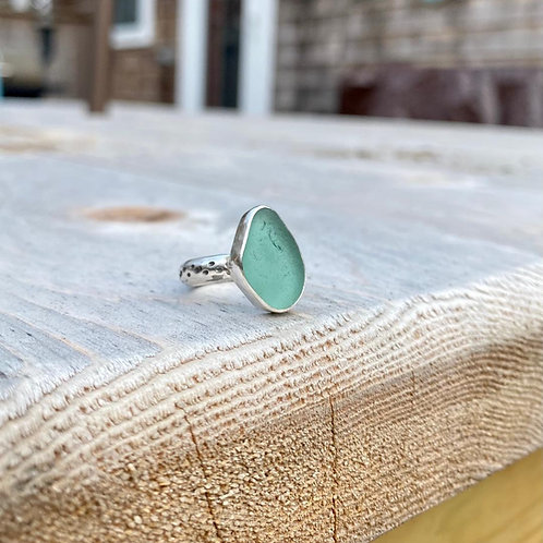 Sage Green Bubble Ring