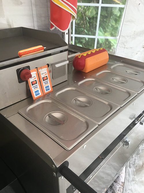 Kings crown Carts add a flat surface griddle 18 x 18 sell more hotdogs make more