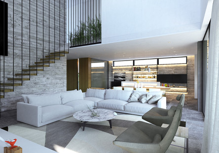 modern living room area by ekky studio architects in nicosia cyprus