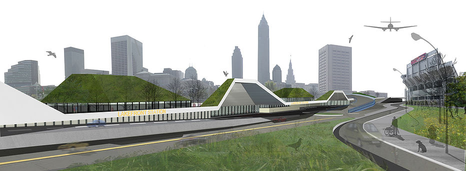 cleveland train station competition entry by ekky studio landscape drawing