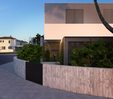 front facade house entrance modern architecture