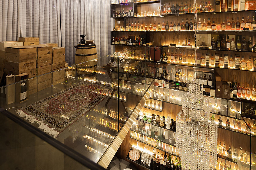 Interior design whisky library installation and decoration b ekky studio architets in cyru