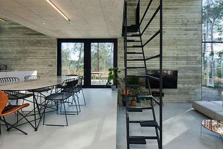 modern apartments with light materials and greenery by ekky studio architects