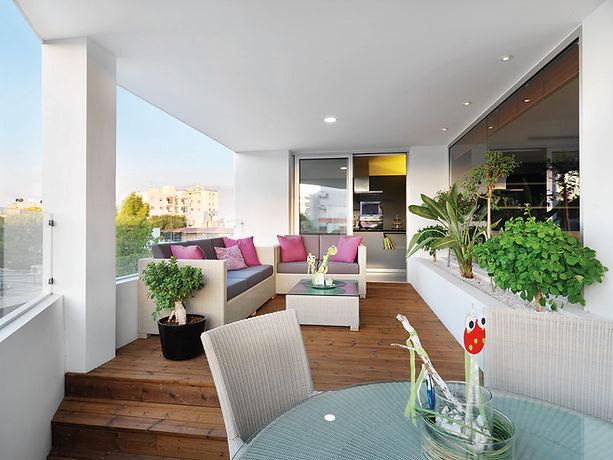 colourful outdoors veranda by ekkystudio architects