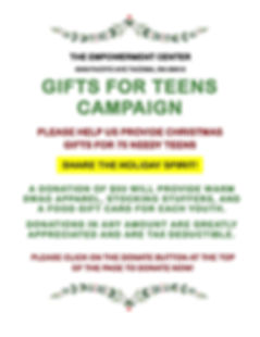 Gifts For Teens Campaign Flyer # 1 _newf