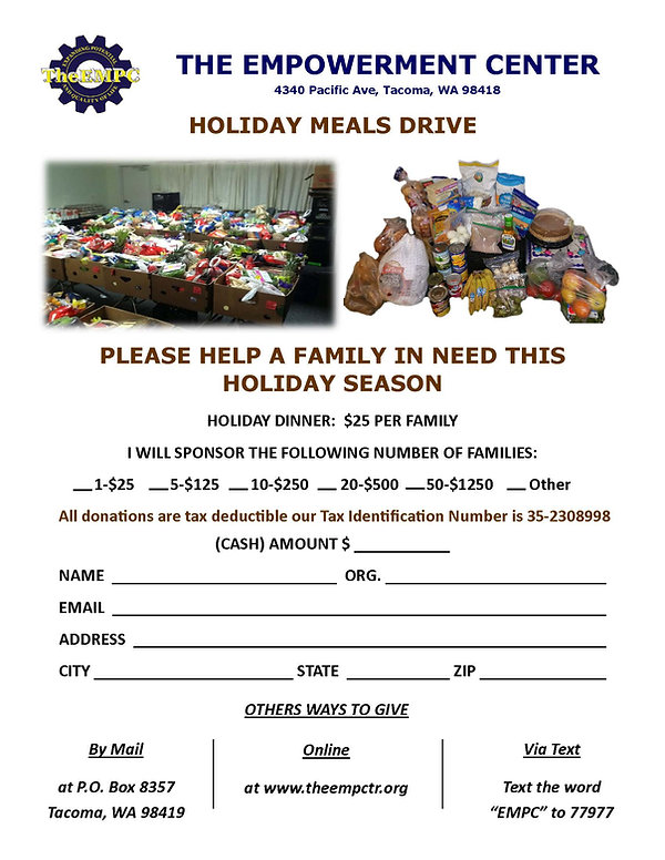 Holiday Meals Drive