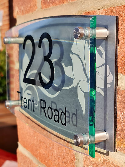 House Perspex Number plaque