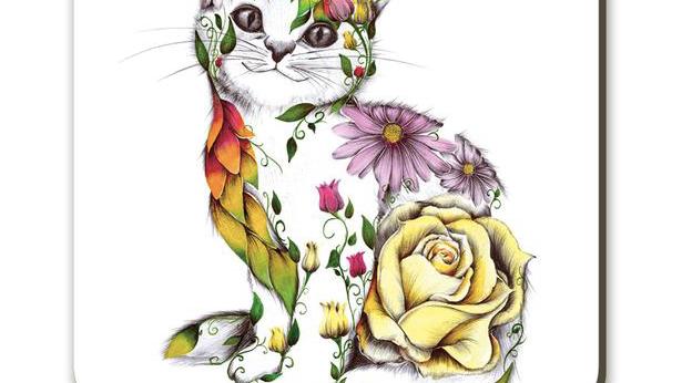 Rosie the Cat Coaster