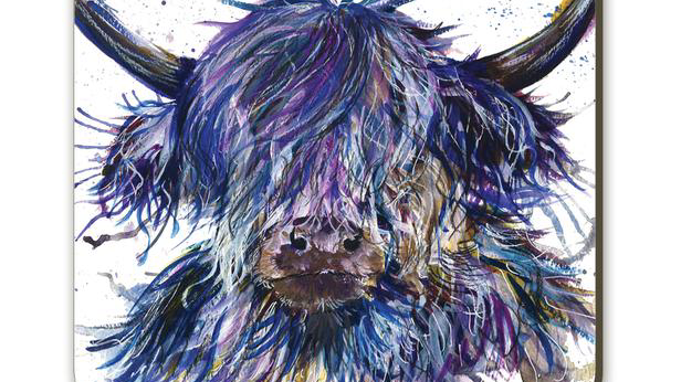 Splatter Scruffy Cow by Katherine Williams