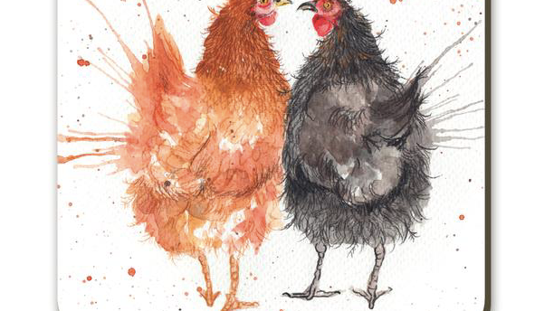 Splatter Hens Coaster