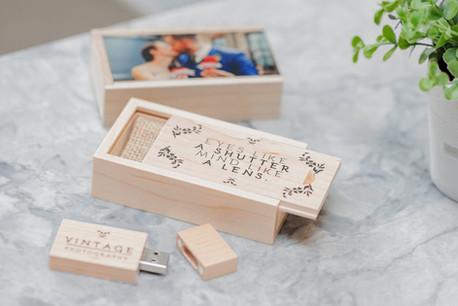 Wooden Matchbox USB 8GB/16GB