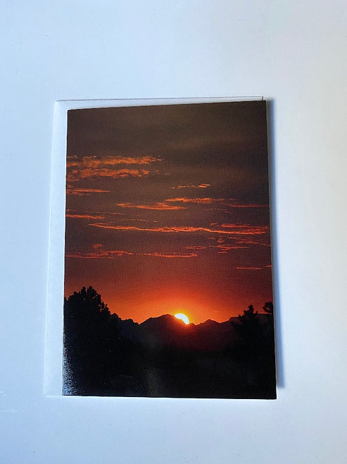 Sunset Blank Greeting Card