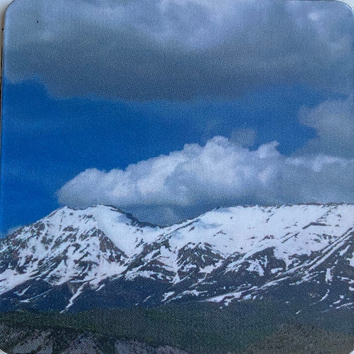 Mountains 2 in x 2 in Square Magnet