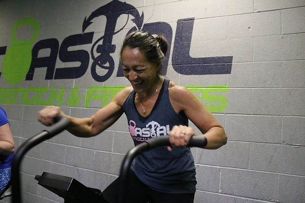Women having fun working out at Coastal Strength & Fitness