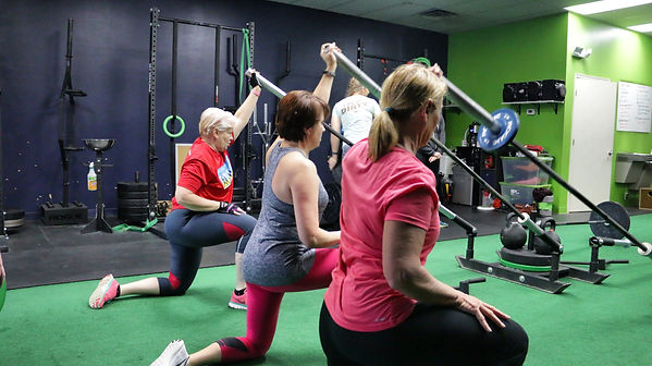 Women working out at Newport News gym.