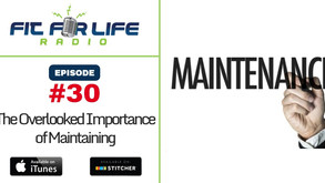 The Overlooked Importance of Maintaining