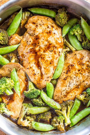 One-Skillet Balsamic Chicken and Vegetables