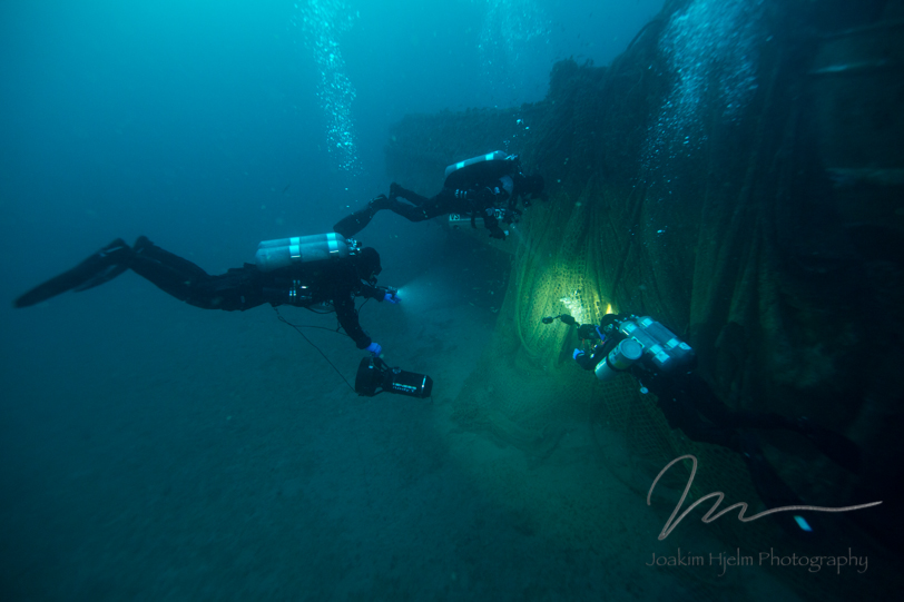 Infidel Starboard side Net and diver