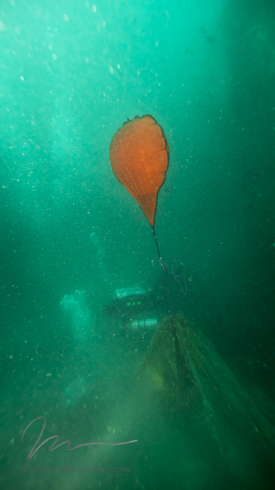 Buoy Bringing Nets to Surface