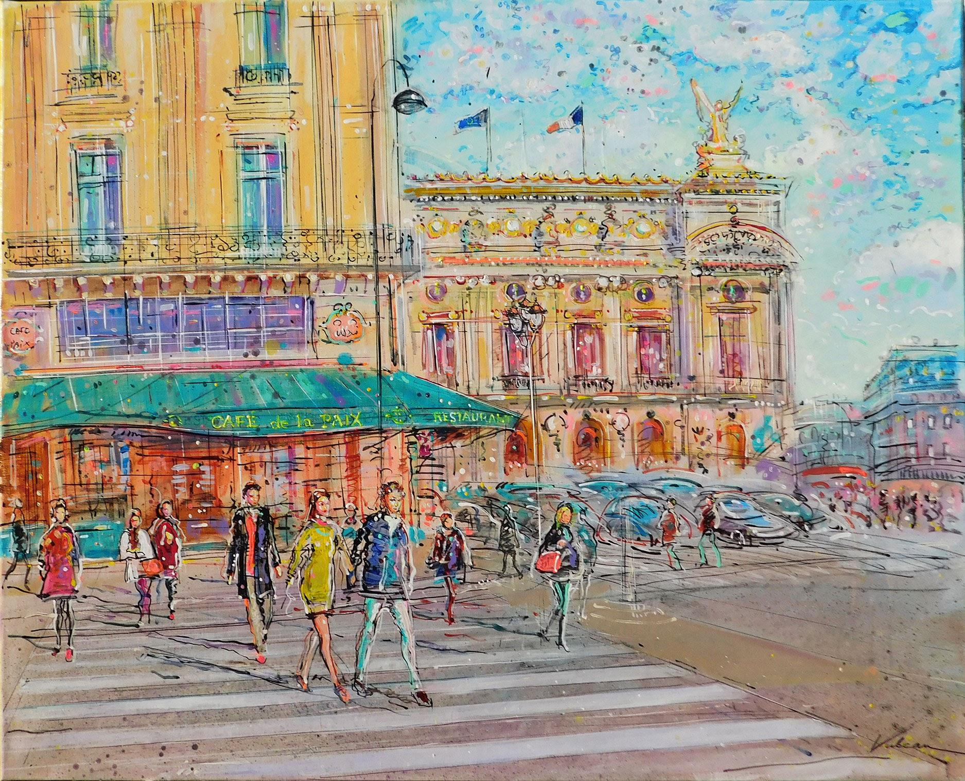 CAFE DE LA PAIX 92x73 cm
