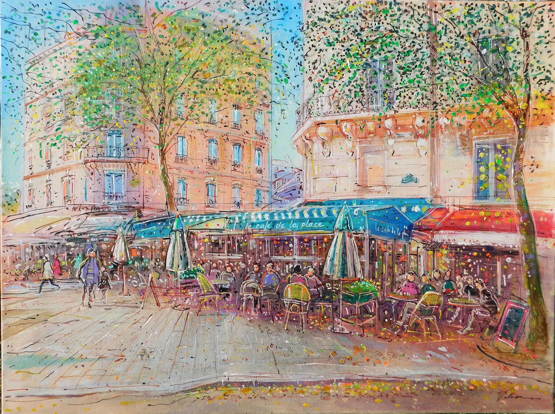 CAFE DE LA PLACE 130x97cm