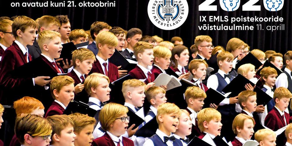 Eesti Meestelaulu Seltsi IX üle-eestiline poistekooride võistulaulmine