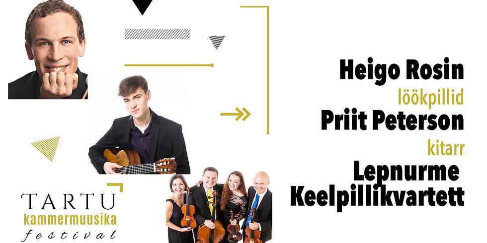 Heigo Rosin - löökpillid, Priit Peterson - kitarr, Hugo Lepnurme nimeline keelpillikvartett