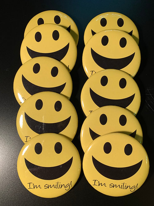 """I'm Smiling - 2.25"""" Button (10-pack)"""