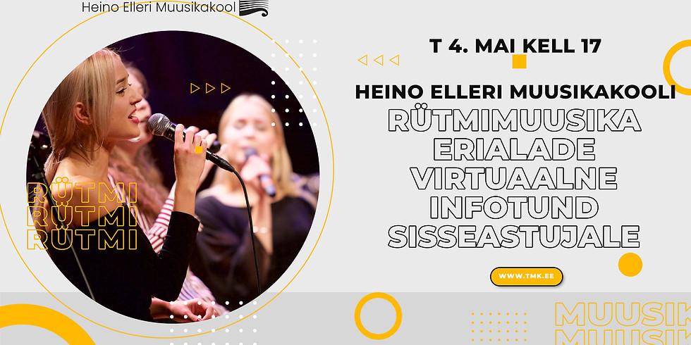 Rütmimuusika erialade virtuaalne infotund