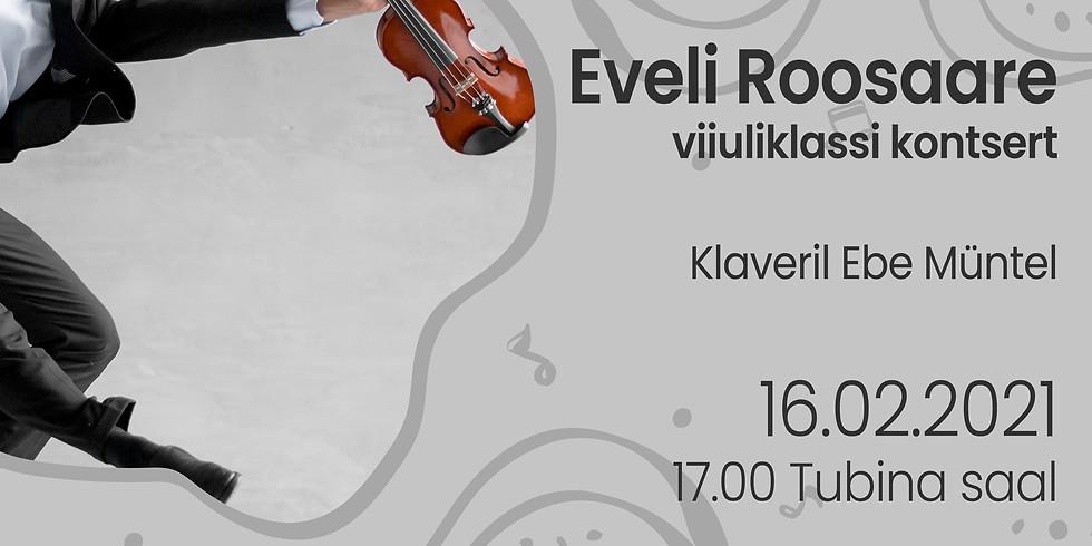 Eveli Roosaare viiuliklassi kontsert