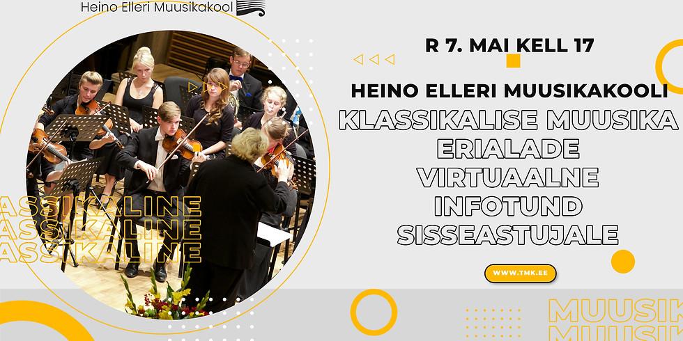 Klassikalise muusika erialade virtuaalne infotund sisseastujale