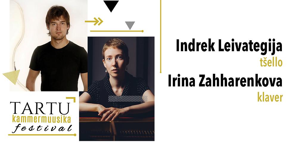 Indrek Leivategija - tšello, Irina Zahharenkova - klaver