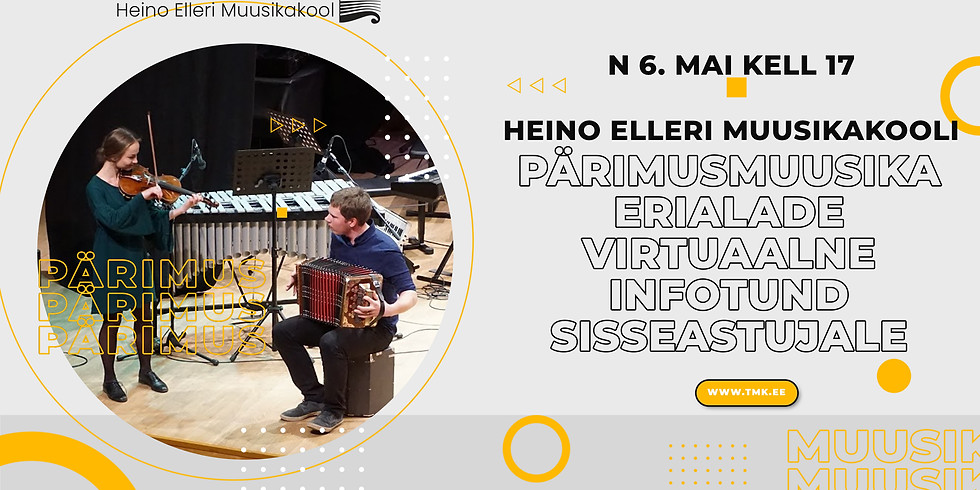 Pärimusmuusika erialade virtuaalne infotund