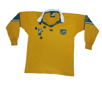 Wallabies 2003 Rugby World Cup Home Jersey Size 12
