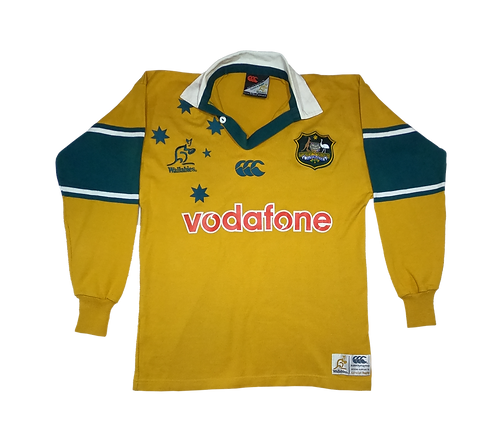 Wallabies 2000-02 Long Sleeve Home Jersey (Small)