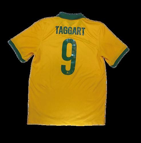 Australia Socceroos Home Jersey 2014-15 Adam Taggart #9 (Medium)
