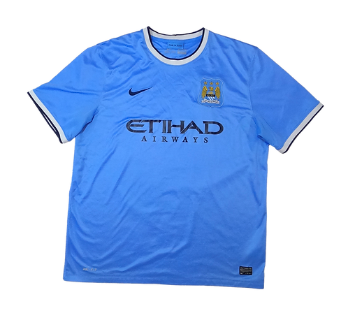 Manchester City 2013-14 Home Jersey (Large)