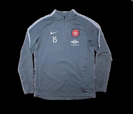 Western Sydney Wanderers 2012-15 #15 Long Sleeve Training Jersey (Medium)