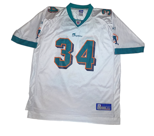 Miami Dolphins 2002-04 Reebok Onfield Away Jersey #34 Ricky Williams (XL)