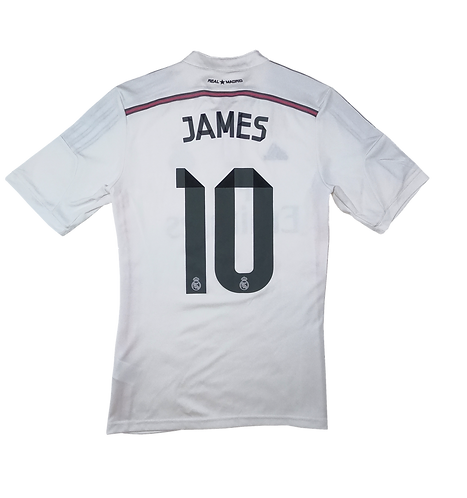 Real Madrid 2014-15 Home Jersey #10 James Rodriguez (Small)
