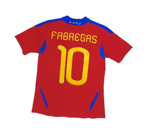 Spain 2011-12 Home Jersey #10 Fabregas (Youth Large)