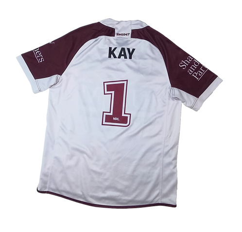 Manly Sea Eagles 2019 Away Jersey #1 Kay (Medium)
