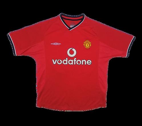 Manchester United 2000-02 Home Jersey #20 Solskjaer (Small)