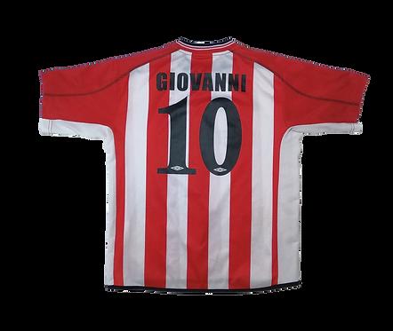 Olympiakos 2002-03 Home Jersey #10 Giovanni (Small)