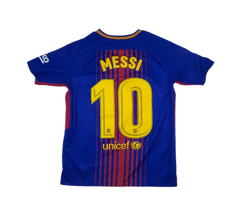 FC Barcelona 2017-18 Home Jersey #10 Messi (Youth XL)