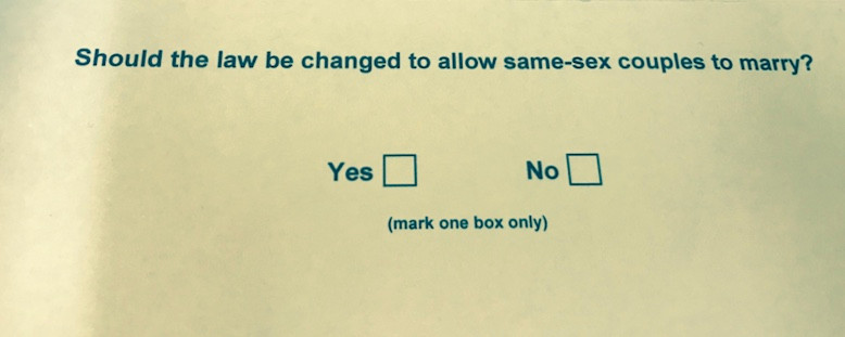 Marriage Equality Postal Vote Answer Form