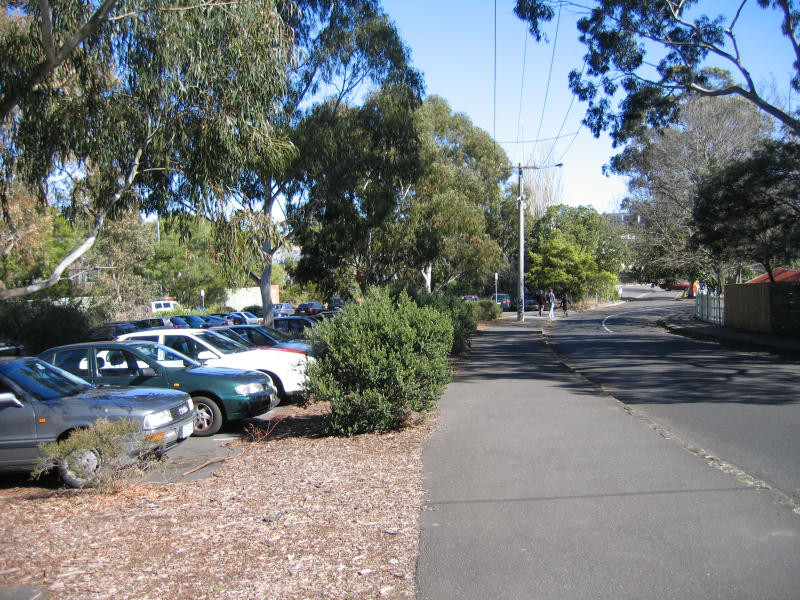 Existing car-park behind Glenferrie Oval
