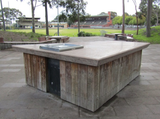 A popular hanging spot: The Barbecues on Glenferrie Oval
