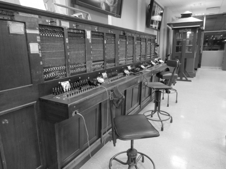 One of the first manual switchboards in Australia.