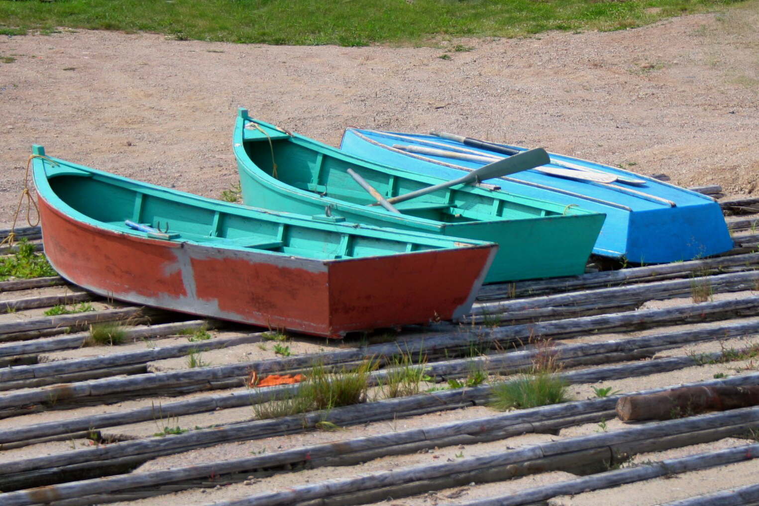 Three Row Boats